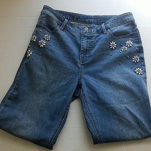 Talbots Embellished Ankle Jeans Ltd Edition